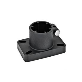 GN 86 Base plate connector clamps, Plastic Type: D - Fixing with slotted holes