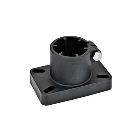 GN 86 Pieds pour tube, plastique Type: D - Fixation avec trous à fente
