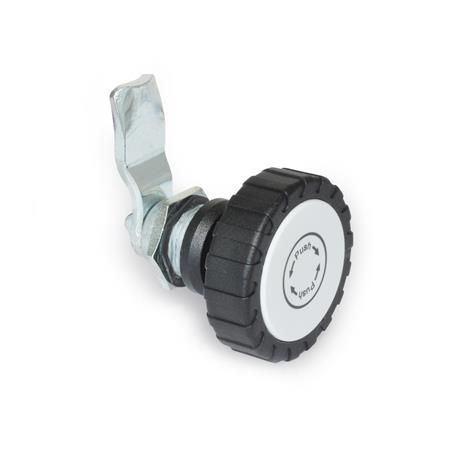 GN 115.9 Latches with safety function, with operating elements, not lockable Type: RG - Operation with knurled knob GN 7336