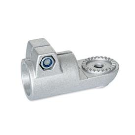 GN 276 Swivel clamp connectors, Aluminum Type: AV - with male serration<br />Finish: BL - blank, tumbled