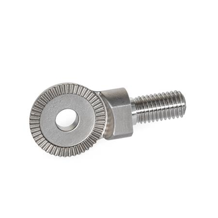 GN 187.5 Stainless Steel-Locking plates Type: C - Stud, with male thread