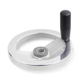 GN 322.5 Safety handwheels with needle bearing Type: D - with revolving steel handle