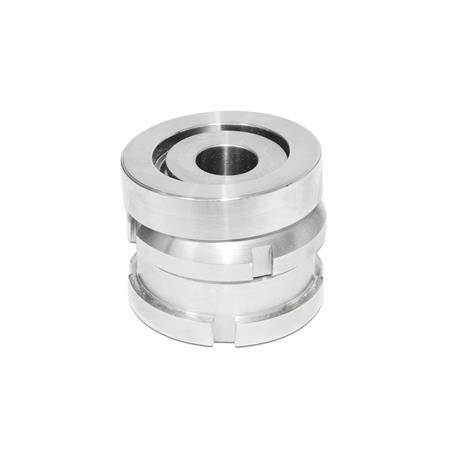 GN 350.2 Edelstahl-Ausgleich-Elemente mit Kugelscheibe Werkstoff: NI - Edelstahl