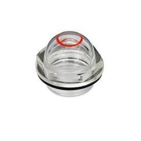 GN 546.1 Ölschaugläser mit Markierungsring