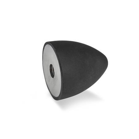 GN 353 Anschlagpuffer, Stahl Form: E - mit Innengewinde