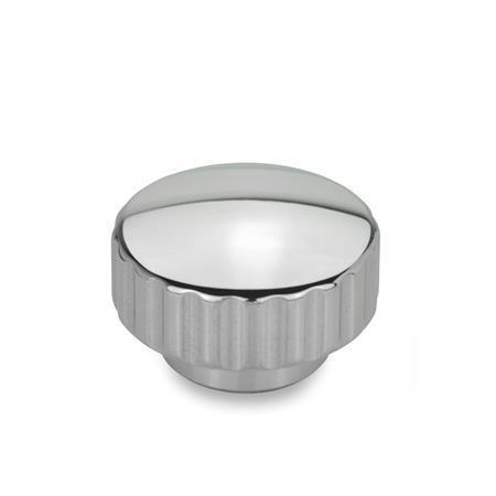 GN 536 Écrous moletés, inox Finition: PL - poli brillant