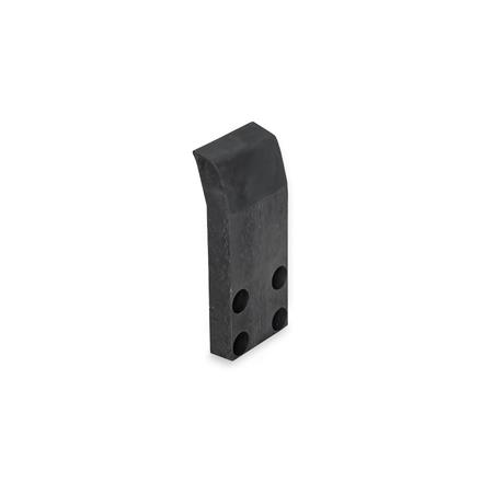 GN 864.1 Protective cover, for power clamps GN 864 Finish: ES - black anodized