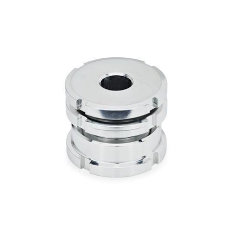 GN 350.1 Ausgleich-Elemente, niedrige Ausführung, Stahl Werkstoff: ST - Stahl Form: AK - mit Kontermutter