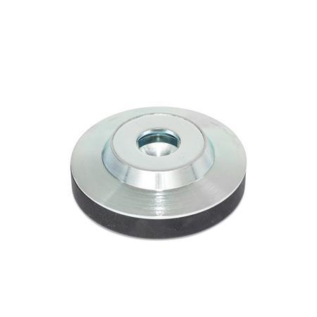 GN 6311.3 Fußteller Form: KR - mit Kunststoffkappe, rutschfest