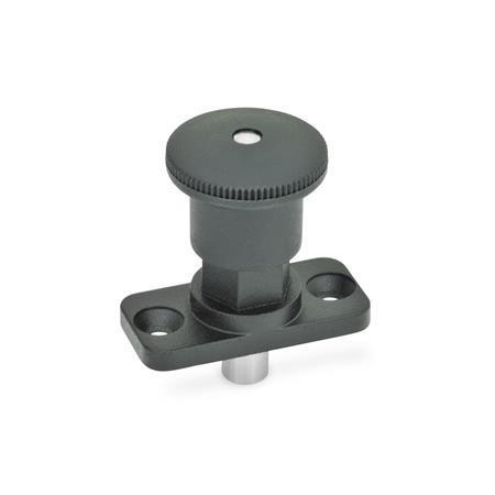 GN 822.8 Miniraster Zink-Druckguss / Kunststoff-Knopf Form: C - mit Rastsperre