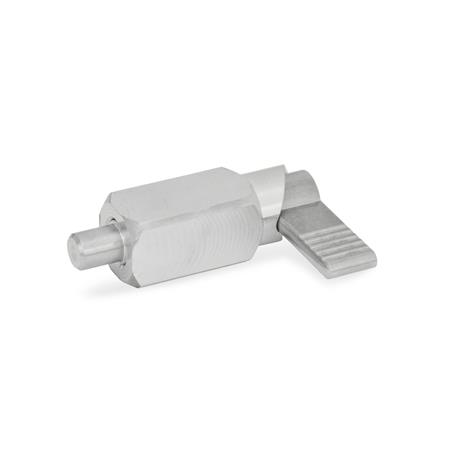 GN 612.3 Edelstahl-Rastriegel zum Anschweißen Form: A - ohne Kunststoffkappe