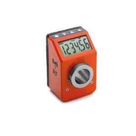 GN 9153 Position indicators, electronic, with data transmission via radio frequency Color: OR - orange, RAL 2004