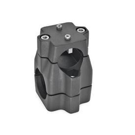 GN 135.1 Verfahrschlitten für Lineareinheiten, Aluminium d<sub>1</sub> / s<sub>1</sub>: B - Bohrung<br />d<sub>2</sub> / s<sub>2</sub>: B - Bohrung
