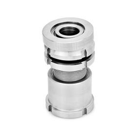 GN 350.5 Edelstahl-Ausgleich-Elemente mit Kugelscheibe, mit Kontermutter Werkstoff: NI - Edelstahl