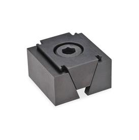 GN 920.1 Wedge clamps, Steel Type: GL  - smooth clamping surfaces