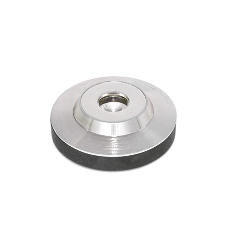 GN 6311.5 Stainless Steel-Foot plates Type: KR - with plastic cap, non-gliding