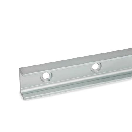 GN 2422 Cam roller linear guide rails Type: UT - Floating bearing rail, mounting hole with sink