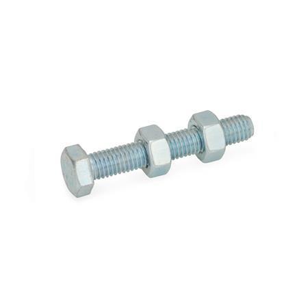 GN 807 Andrückschrauben, Stahl Form: A - ohne Schutzkappe