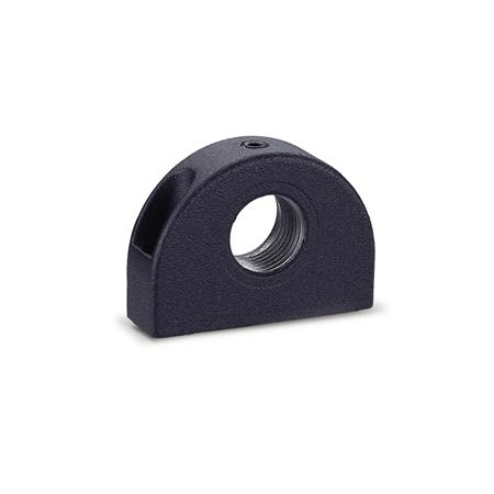 GN 412.1 Mounting blocks, Zinc die casting Identification no.: 1 - Mounting from the front