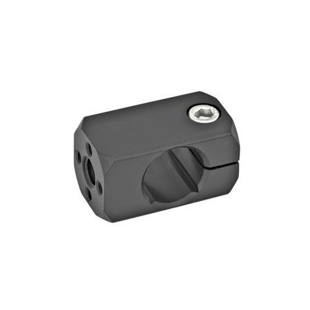 GN 478 Attachment clamp mountings, Aluminium Finish: ELS - anodized black