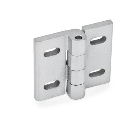GN 235 Hinges, adjustable, Zinc die casting Material: ZD - Zinc die casting Type: B - vertical adjustable Finish: SR - silver, RAL 9006, textured finish