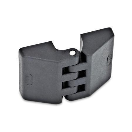 GN 155 Scharniere, Kunststoff Form: A - 2x2 Gewindesacklöcher