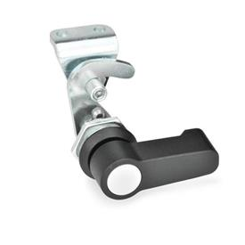 GN 115.8 Hook-type latches, operation with various elements Type: HG - Operation with lever<br />Identification no.: 2 - with latch bracket<br />Finish locating ring: SW - black, RAL 9005, textured finish