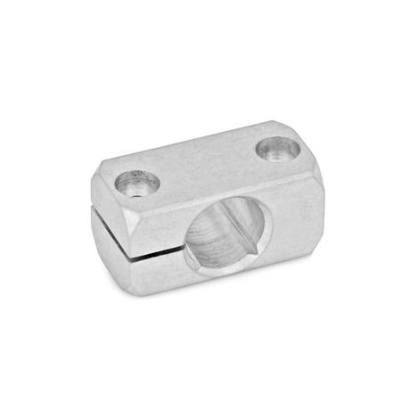GN 477 Clamp mountings, Aluminum Finish: MT - matte, ground