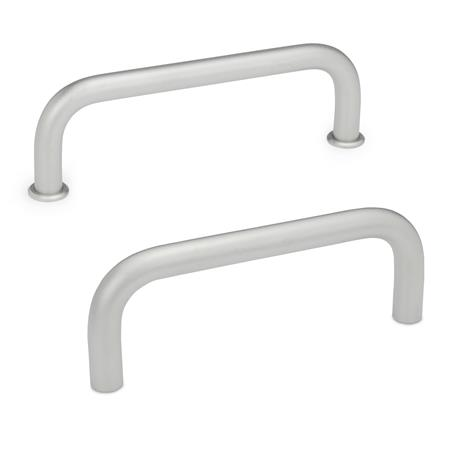 GN 425 Stainless Steel-Cabinet U-handles Material: A4 - Stainless Steel Finish: GS - matte shot-blasted