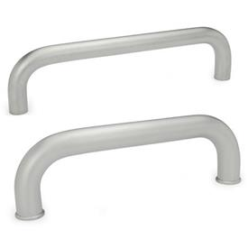 GN 426.5 Stainless Steel-Cabinet U-handles Type: A - Mounting from the back (threaded blind bore)