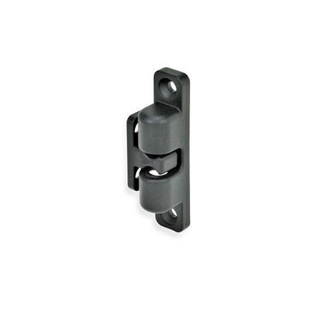 GN 4490 Kugelschnäpper Oberfläche: SW - schwarz, RAL 9005, strukturmatt