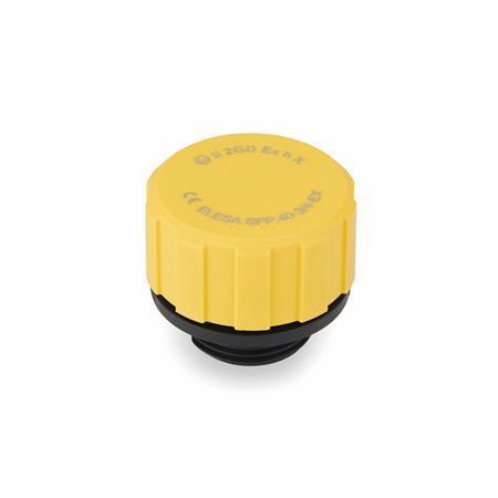 GN 552.6 Tapones de ventilación, ATEX, plástico Form: A - sin varilla de nivel