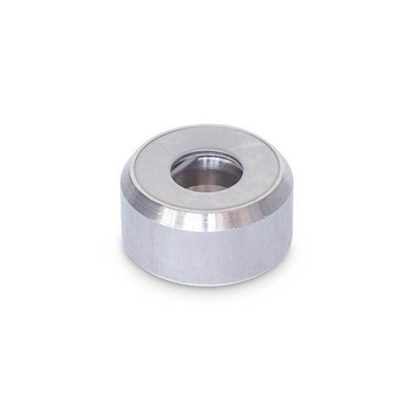 GN 6311.1 Stainless Steel-Thrust pads Type: A - Thrust pad surface plane, without plastic cap Material: NI - Stainless Steel