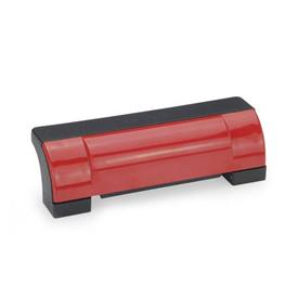 GN 630 Ledge handles, Plastic Color: DRT - red, RAL 3000, shiny