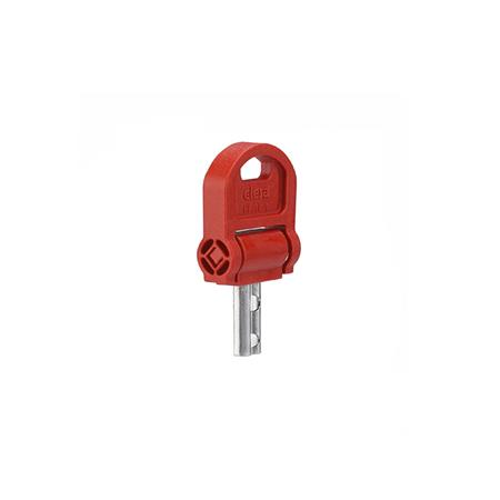 GN 5337.8 Keys for Safety-Star knobs Type: CSN - with key, fold-away