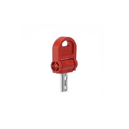 GN 5337.8 Schlüssel für Sicherheits-Sterngriffe Form: CSN - mit Schlüssel, umlegbar