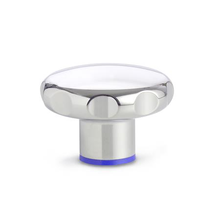 GN 5435 Stainless Steel-Star knobs, Hygienic Design Type: PL - polished (Ra < 0.8 µm)
