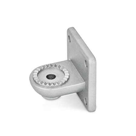 GN 272 Swivel clamp connector bases, Aluminium Type: AV - with male serration Finish: BL - blank