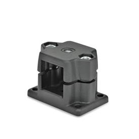 GN 147.7 Locking slide units Identification No.: G - with thread<br />Finish: SW - black, RAL 9005, textured finish