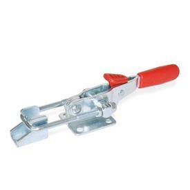 GN 851.3 Verschlussspanner mit Verriegelung, Stahl, für Zugspannung Form: T6 - mit Zugbügel, mit Gegenhalter<br />Werkstoff: ST - Stahl