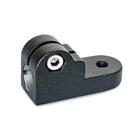 GN 275 Swivel clamp connectors, Aluminium Finish: SW - black, RAL 9005, textured finish<br />Identification No.: 2 - with Stainless Steel-Clamping screw DIN 912
