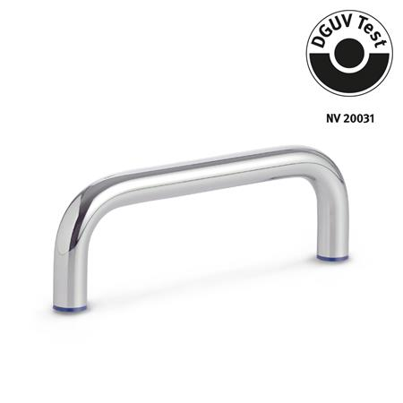GN 429 Stainless Steel-Cabinet U-handles, Hygienic Design Finish: PL - polished (Ra < 0.8 µm) Material (Sealing ring): H - H-NBR