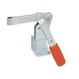 GN 812 Toggle clamps, operating lever vertical, with dual flanged mounting base Type: EV - Solid clamping arm
