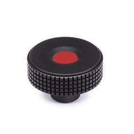 GN 534 Kordelgriffe, Kunststoff, Abdeckkappe farbig Farbe Abdeckkappe: DRT - rot, RAL 3000, matt