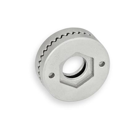 GN 188 Stainless Steel-Serrated locking plates, for welding Type: A - with pass-through hole, without bushing