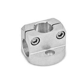 GN 473 Base plate clamp mountings, Aluminum Finish: MT - matte, ground