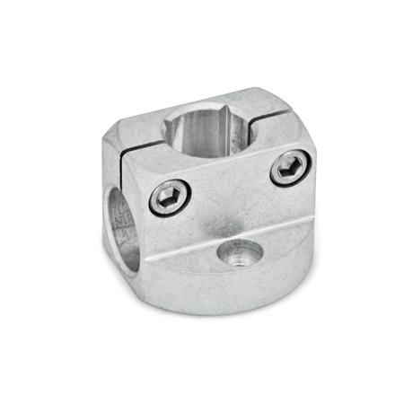 GN 473 Base plate clamp mountings, Aluminium Finish: MT - matte, ground