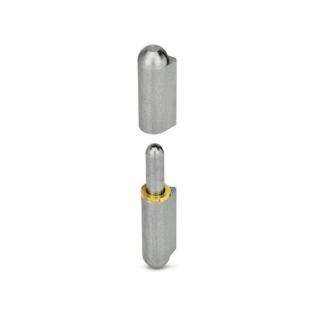 GN 128 Hinges for welding, Steel Type: ST - with fixed Steel pin