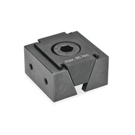 GN 920.1 Wedge clamps, Steel Type: GA - with 2 fixing threads for attachment jaws