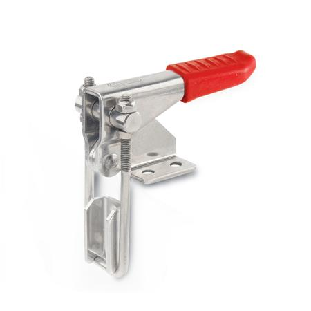 GN 851.1 Stainless Steel-Latch type toggle clamps for pulling action Type: T3 - with U-bolt latch, with catch